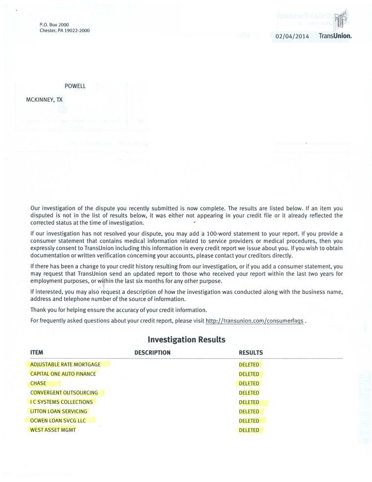 McKinney credit repair results