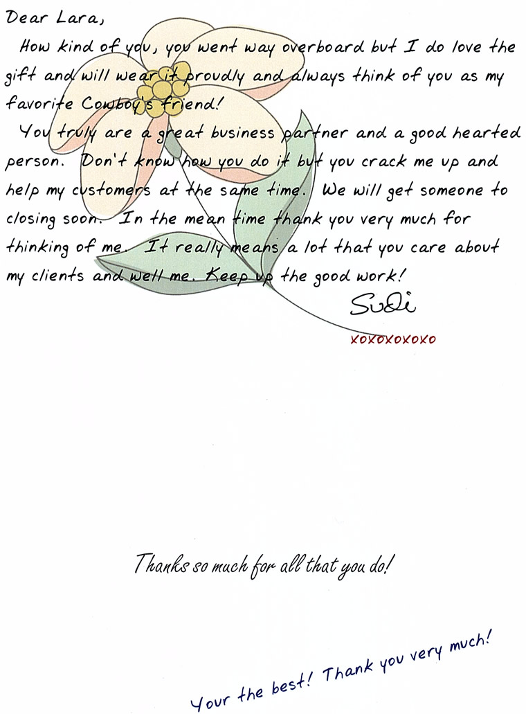 Note from grateful credit repair client