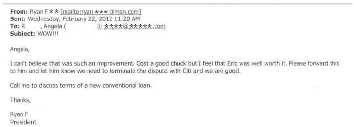email from well pleased credit repair client